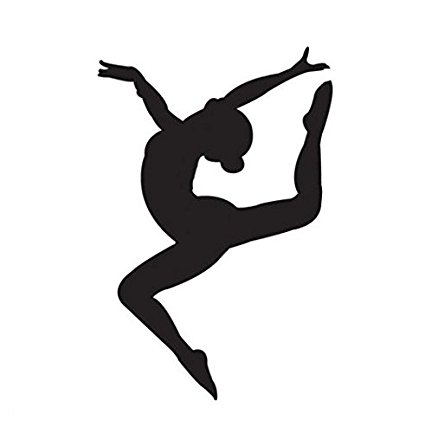 Gymnastics clipart leap. Dance silhouette at getdrawings