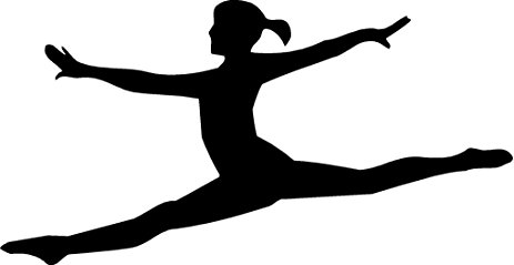 Gymnastics clipart leap. Silhouette splits at getdrawings