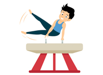 Gymnastics clipart parallel bar. Sports free to download