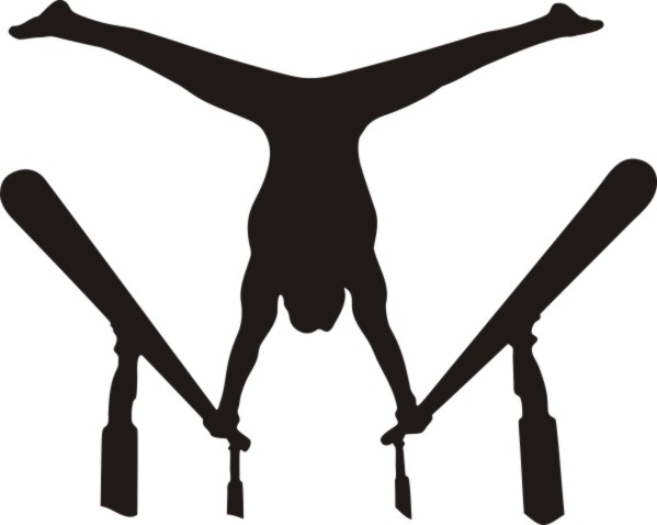 Gymnastics clipart parallel bar. Gymnastic bars d sc