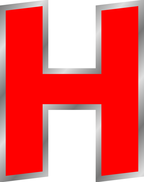 H transparent big letter. Png images free download