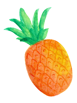 H transparent fruit. Free orange and green