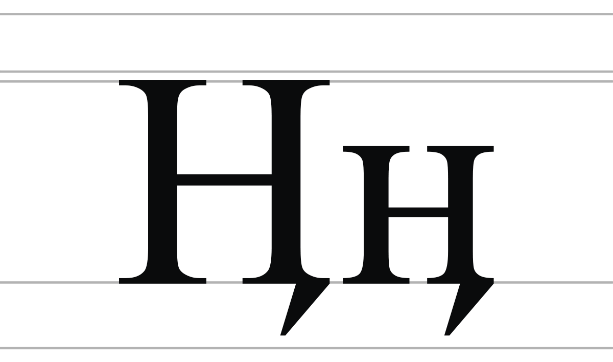 H vector cyrillic. En with tail wikipedia