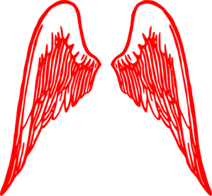 H vector wing. Red angel wings clip