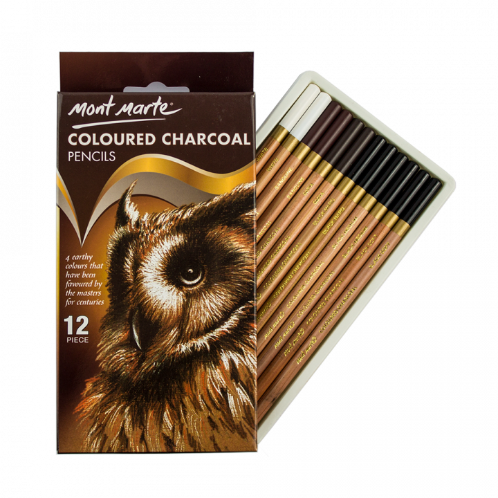 H2o drawing colored pencil. Coloured charcoal pencils set