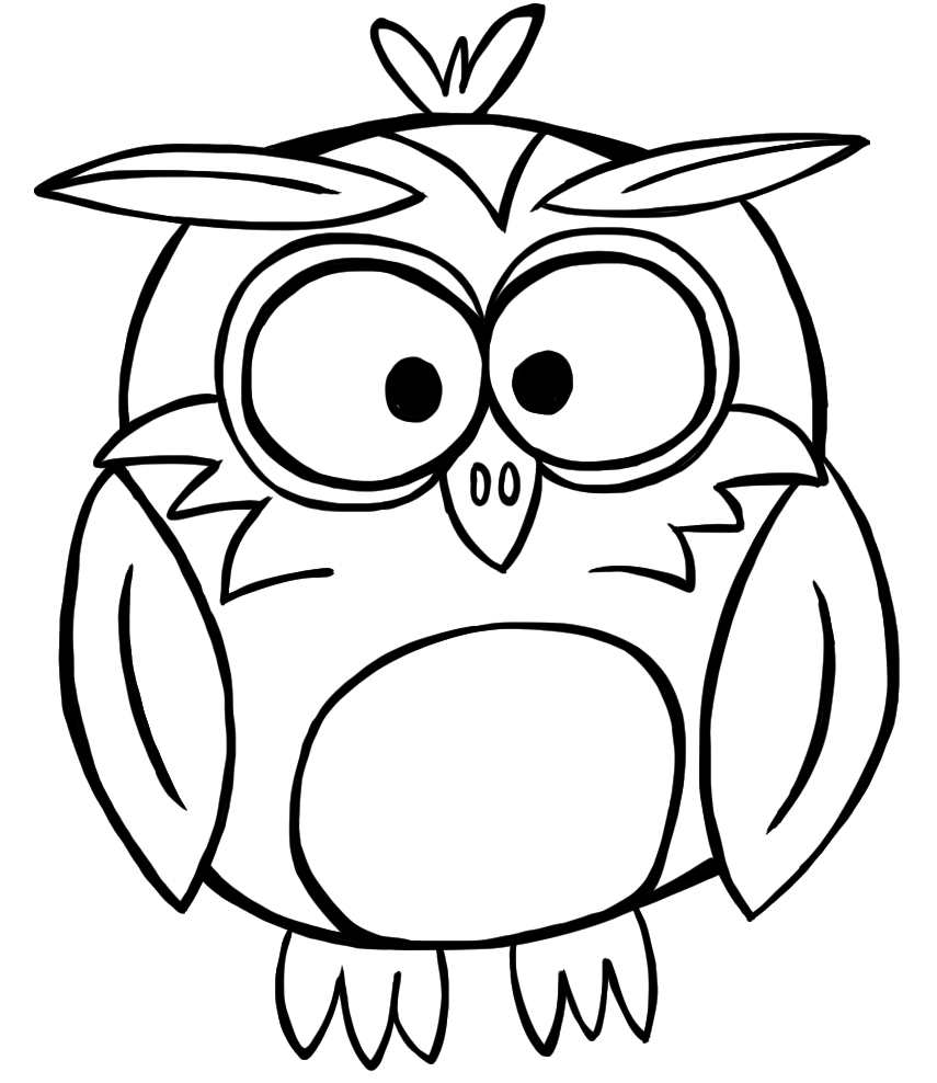 noir drawing owl