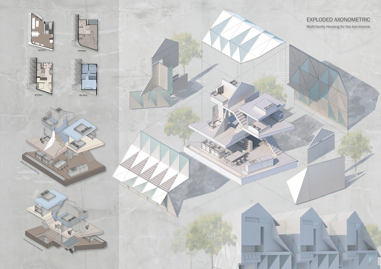 Habitat drawing house. Collective project iii multi