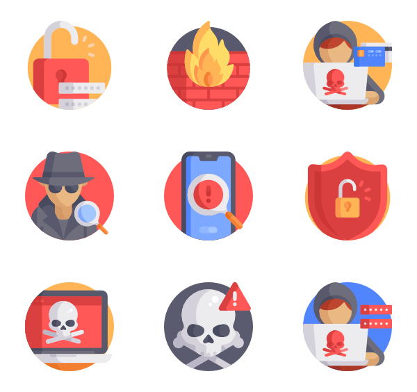 Hacker vector icon. Icons free cyber crimes
