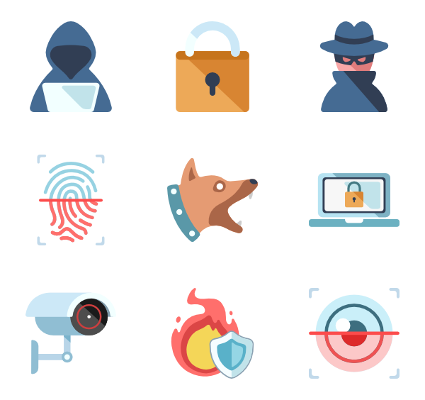 Hacker vector icon. Icons free security
