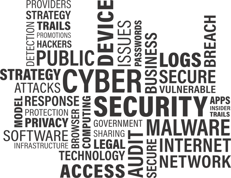 Hacker vector computer security. Glossary of cyber terms