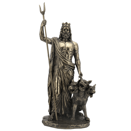 Hades statue png. Bronze wu from medieval