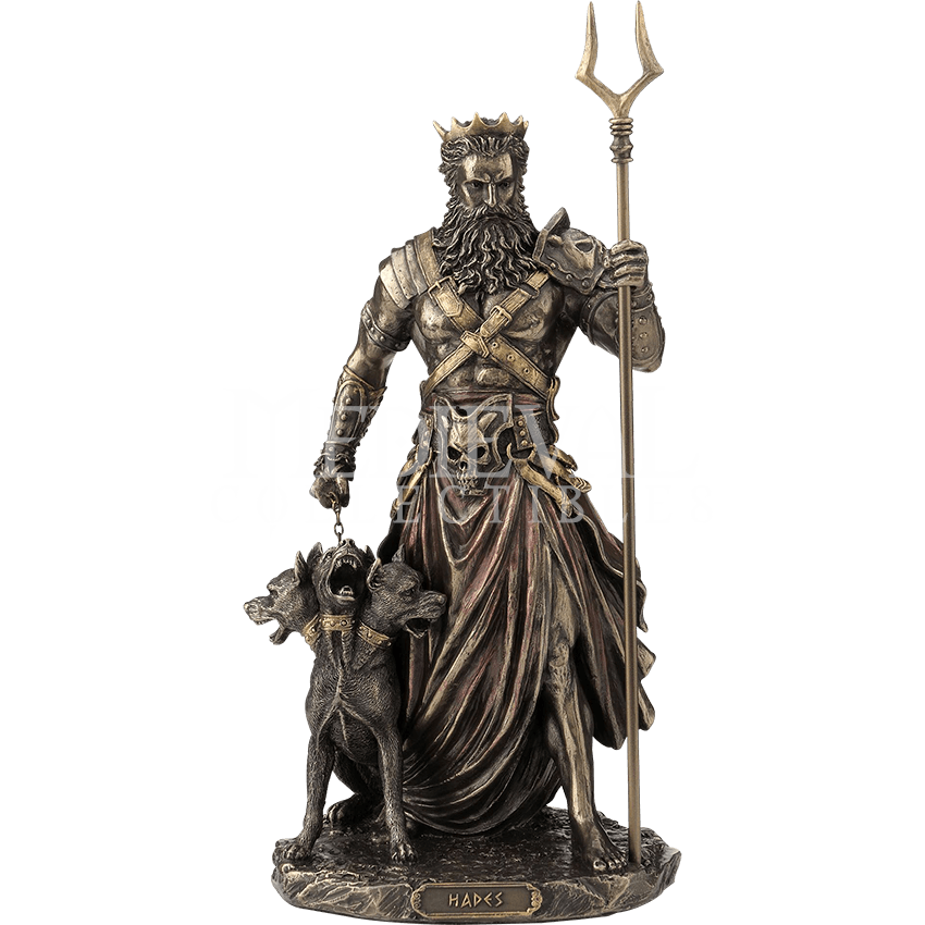 Hades statue png. Bronze wu by medieval