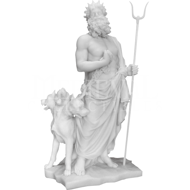 Hades statue png. With cerberus tl by