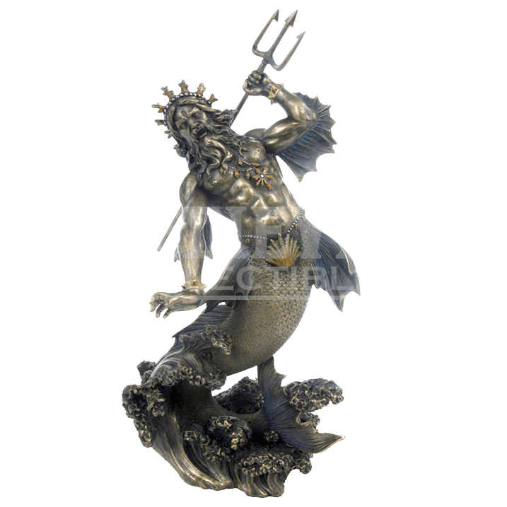 Hades statue png. Poseidon god of the