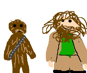 Hagrid drawing cool. Chewbacca and drawception