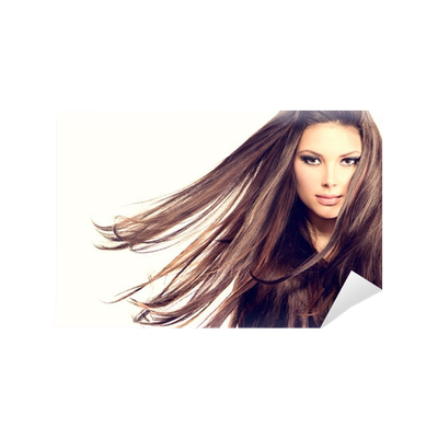 Hair blowing png. Fashion model girl portrait