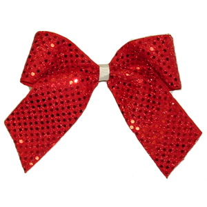 Red hair bow png. Sequin sparkle bows cheer