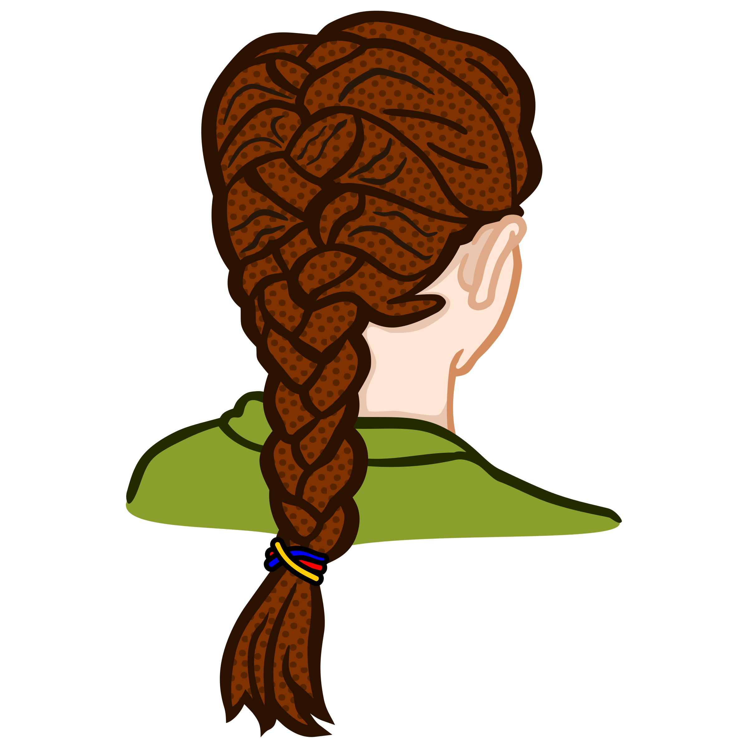 Hair braid png. French coloured icons free