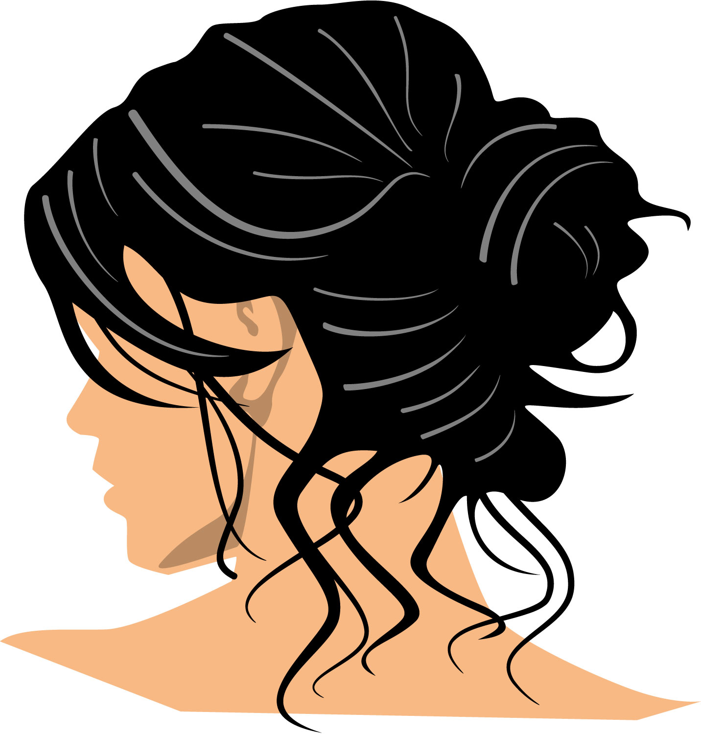 Brush at getdrawings com. Hair clipart image black and white