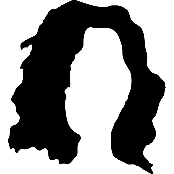 Elvis hair silhouette at. Afro clipart crazy wig svg royalty free library