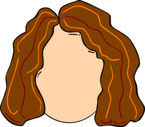 Young girl highlights clip. Hair clipart transparent library