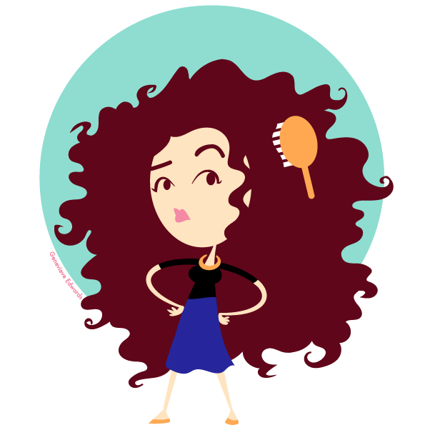 Afro clipart cartoon hair. Curly at getdrawings com