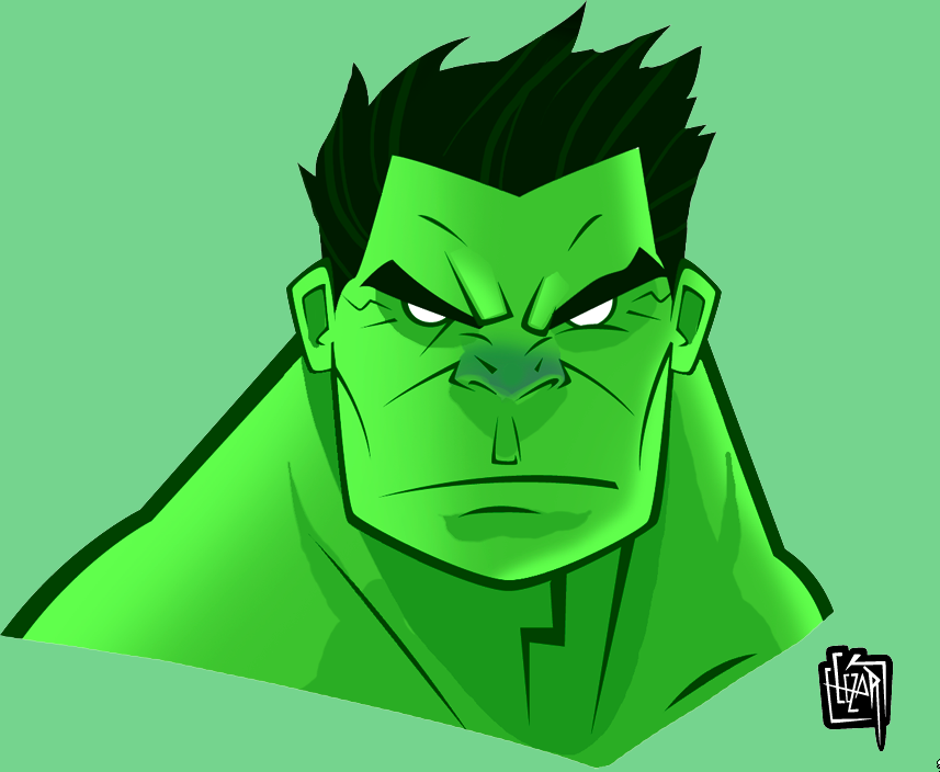 Hair clipart hulk. Drawing face at getdrawings