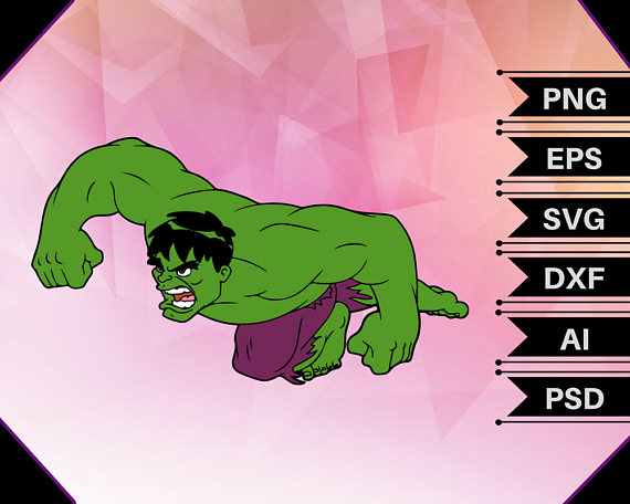 Hair clipart hulk. Svg vector cut file