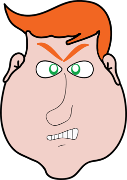 Angry clipart angry man. Orange hair i royalty