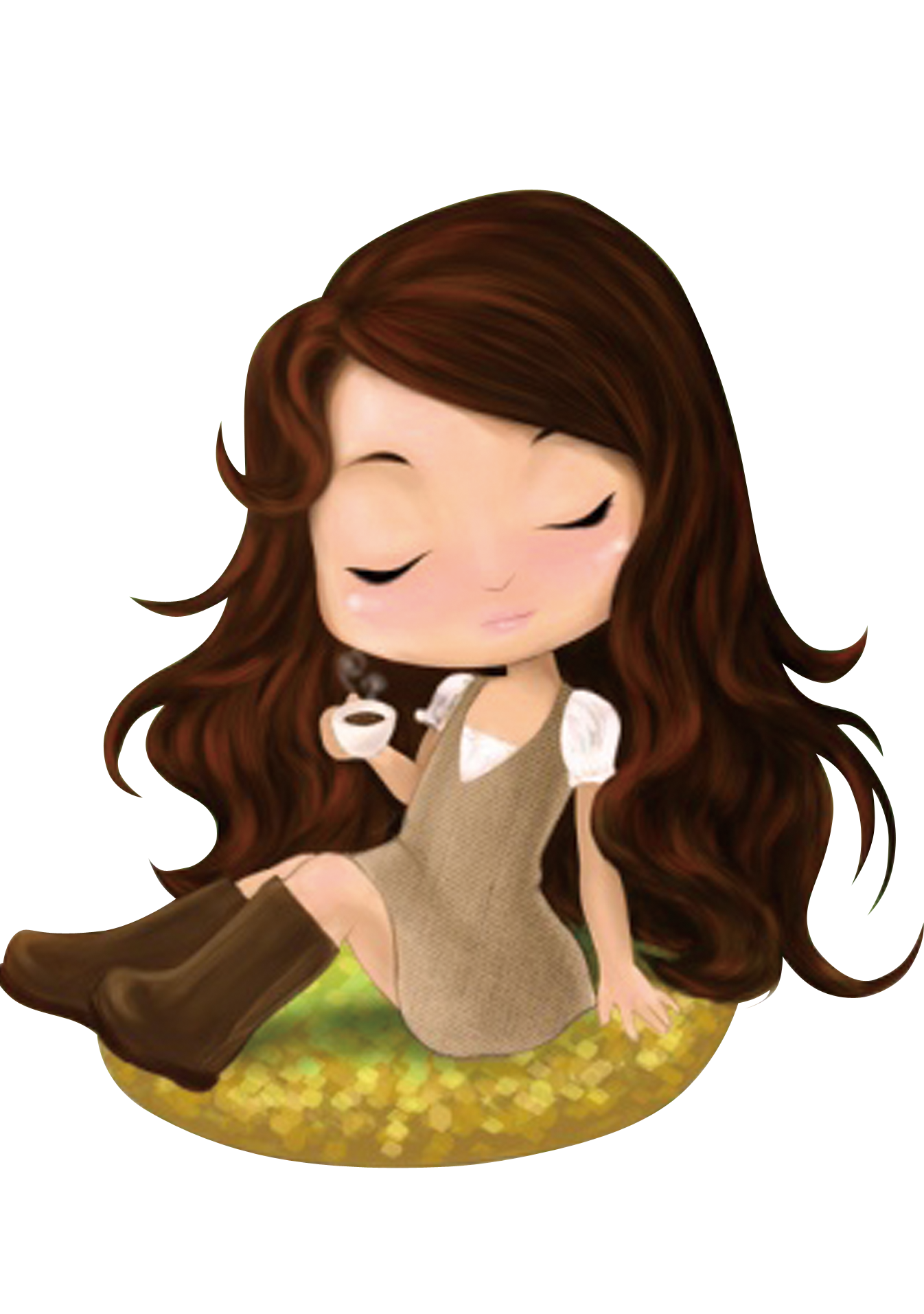 Hair curls png. Cartoon drawing the little