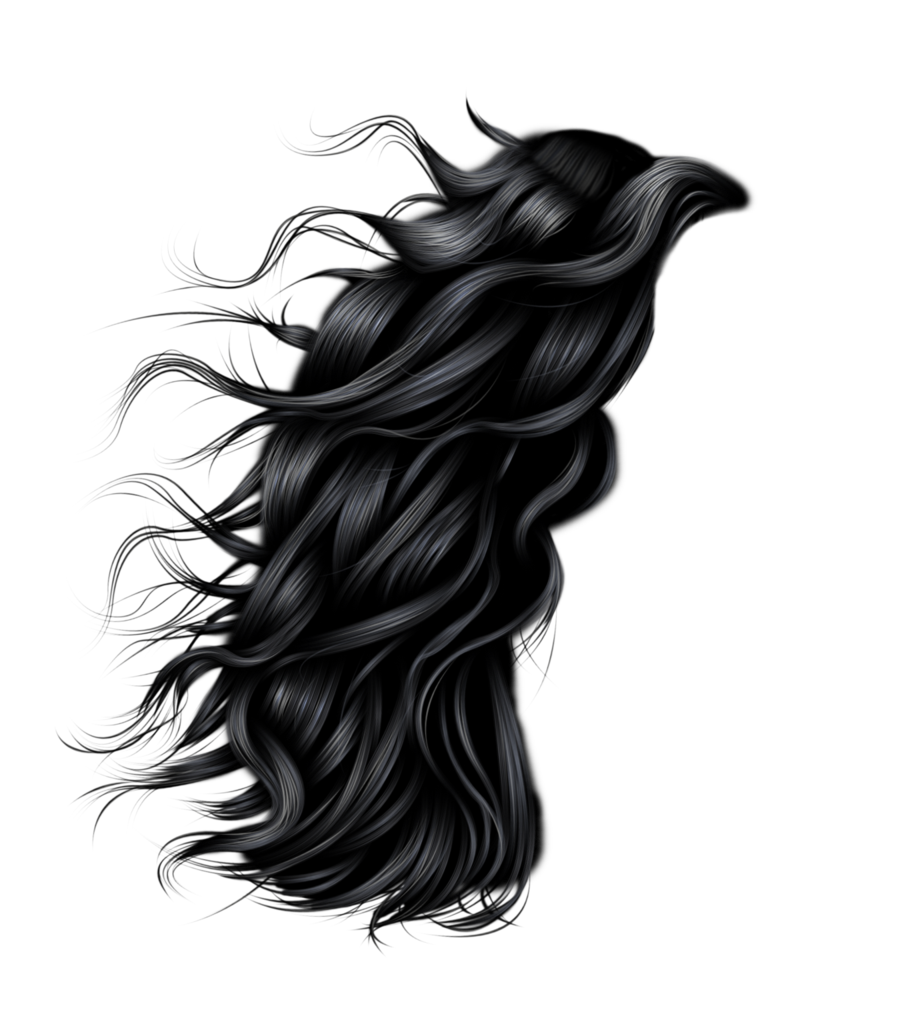 Strand of hair png. Image without background web