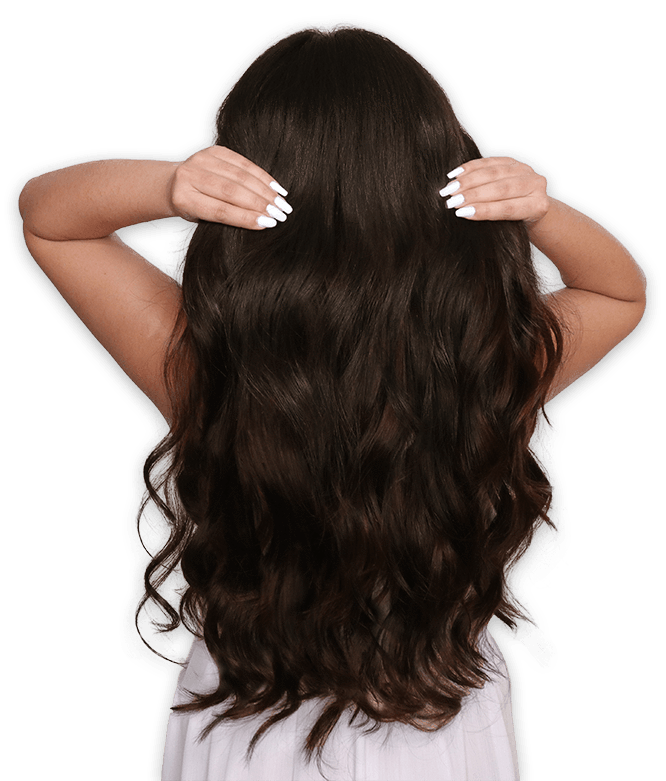 extension clip brown hair