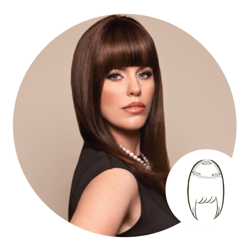 Clip bangs. Products tress couture le