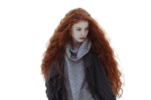 Female wig png. Girl with red hair