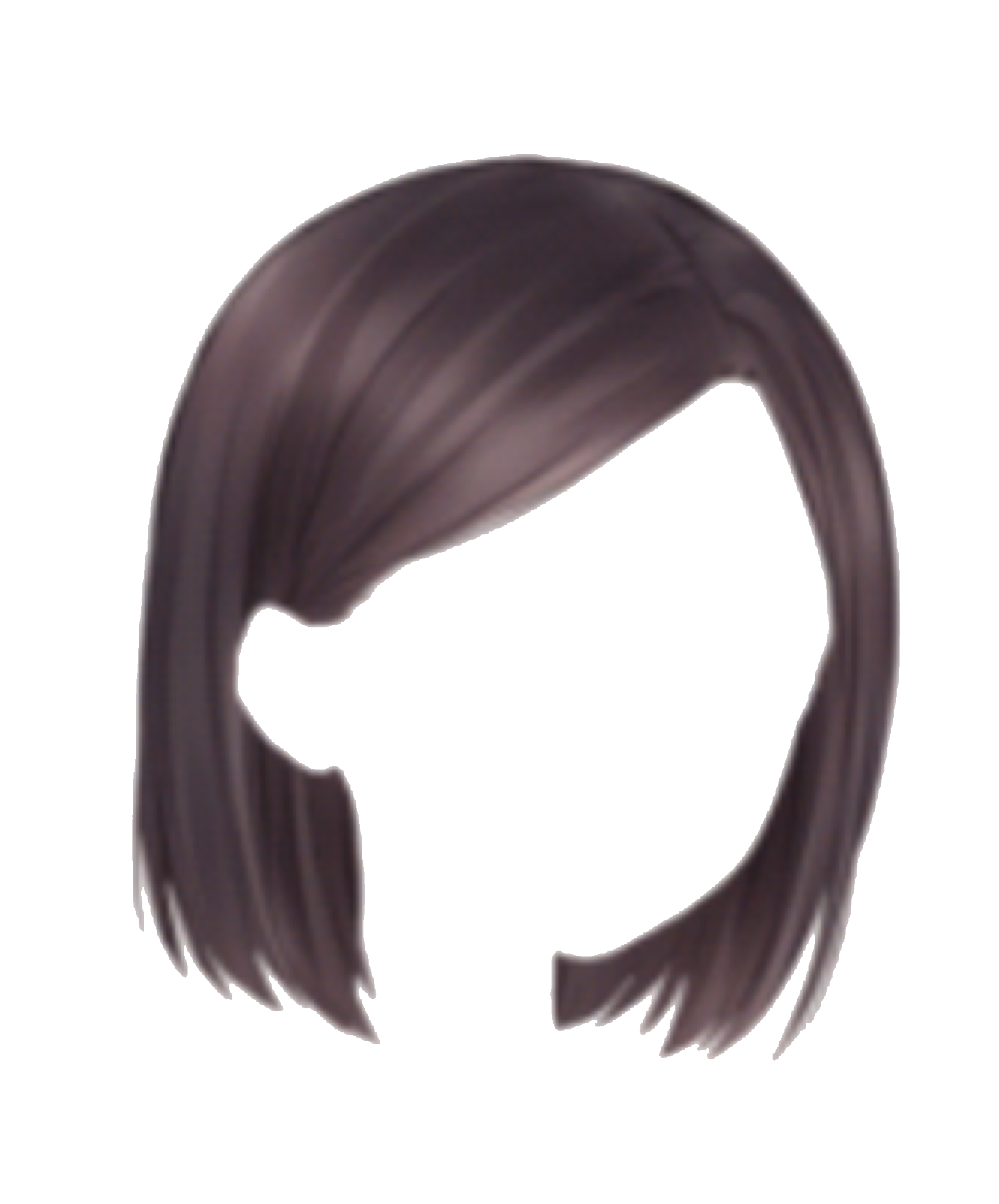 Girls transparent hair. Short png picture mart