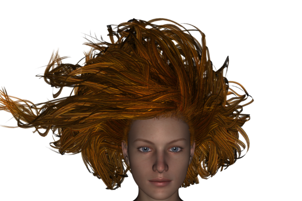 Hair in wind png. Need advice for handling