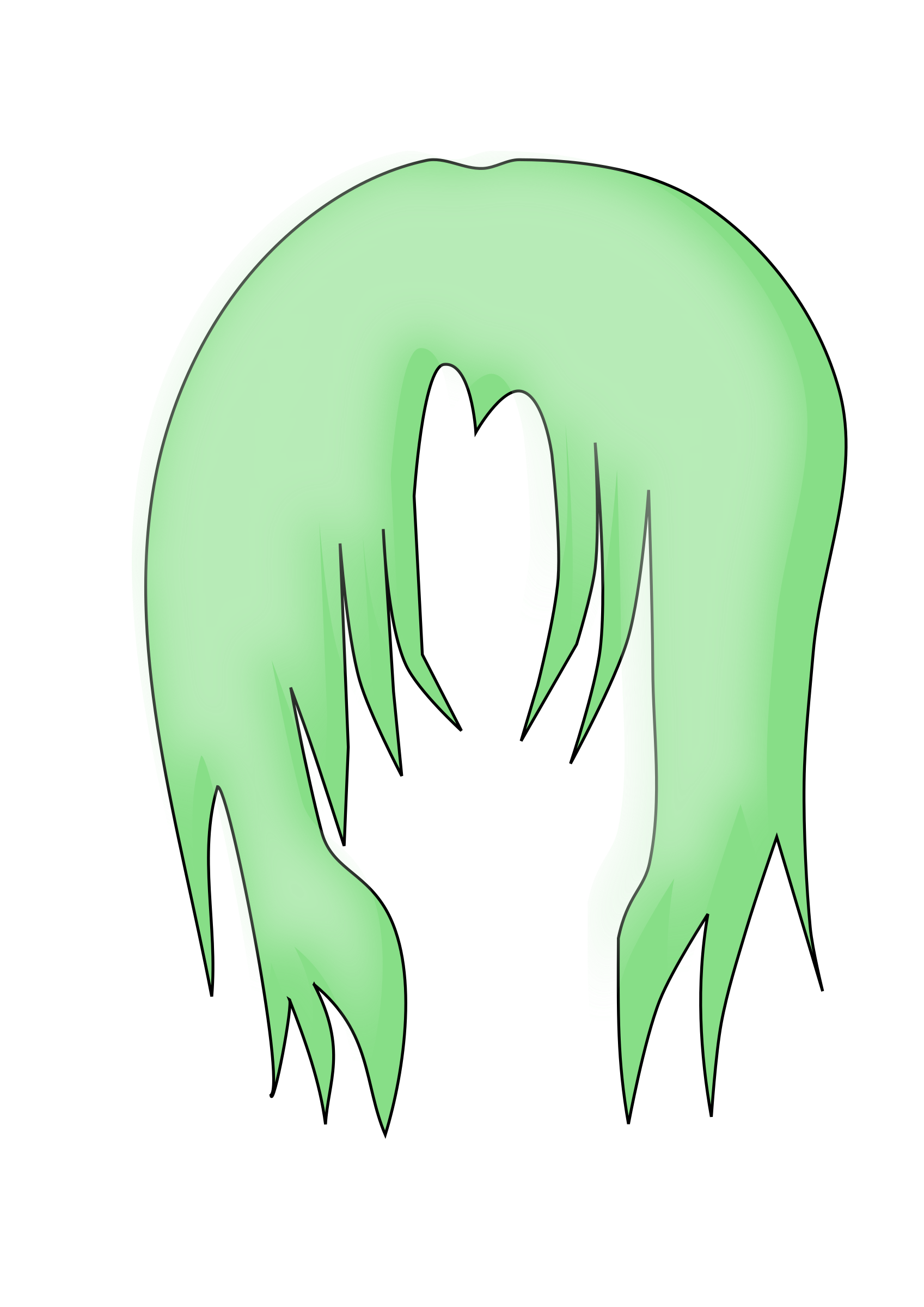 Green hair png. Anime icons free and