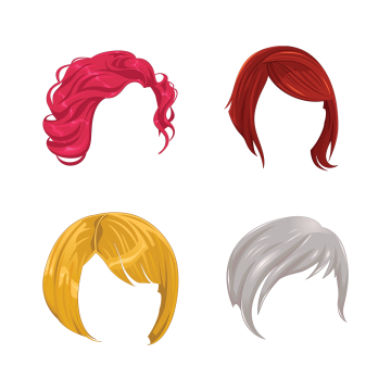Hair png vector. Style vectors psd and