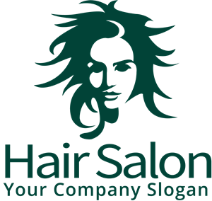 Hair salon logo png. Vector eps free download