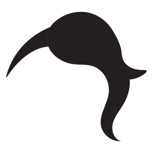 Hair silhouette png. Half shaved woman transparent