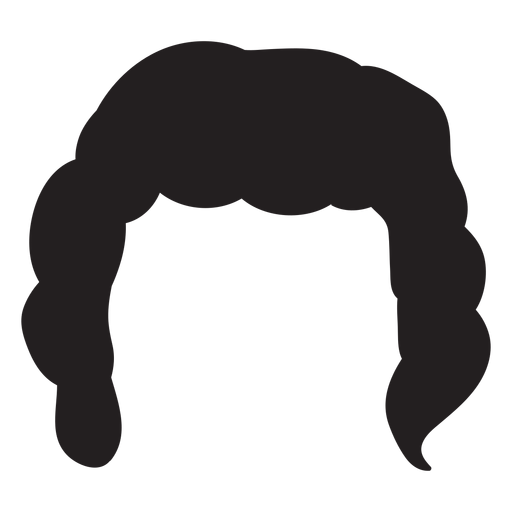 Hair silhouette png. Curly men transparent svg