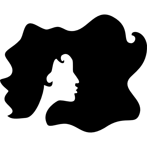Hair silhouette png. Salon icon page svg