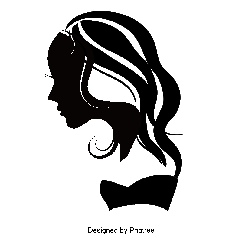 Hair silhouette png. Beauty silhouettes female figures