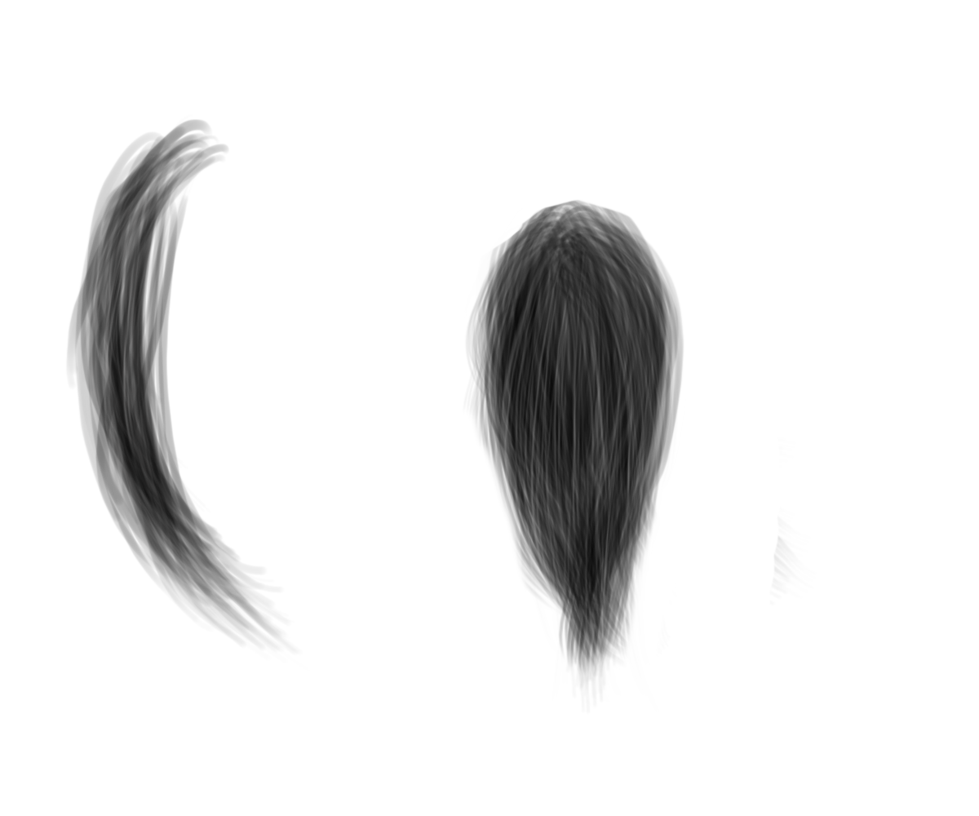 Hair strand png. By vin stock on