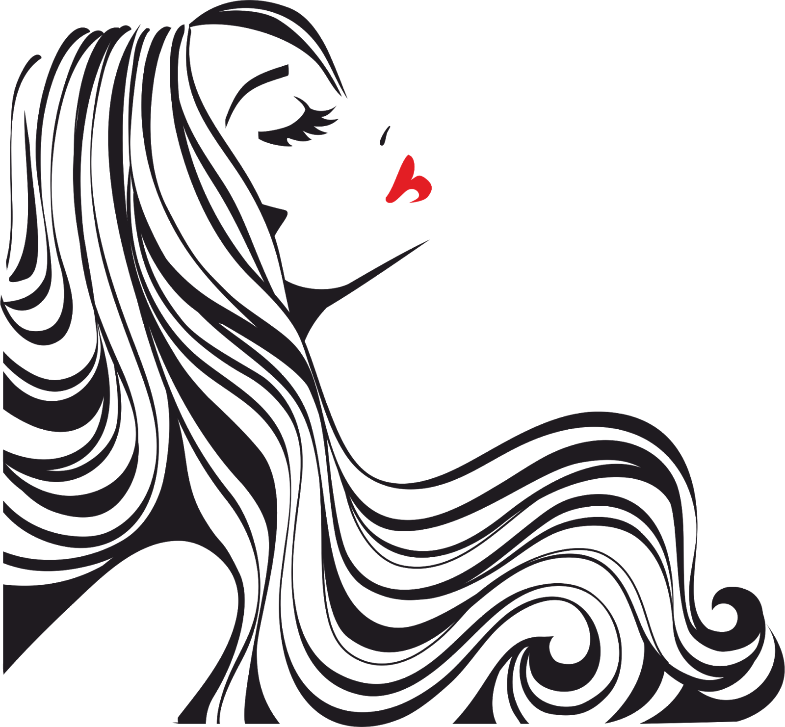 hair vector png