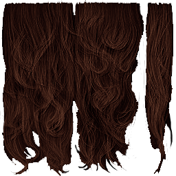 Hair texture png. Transparency shader for help