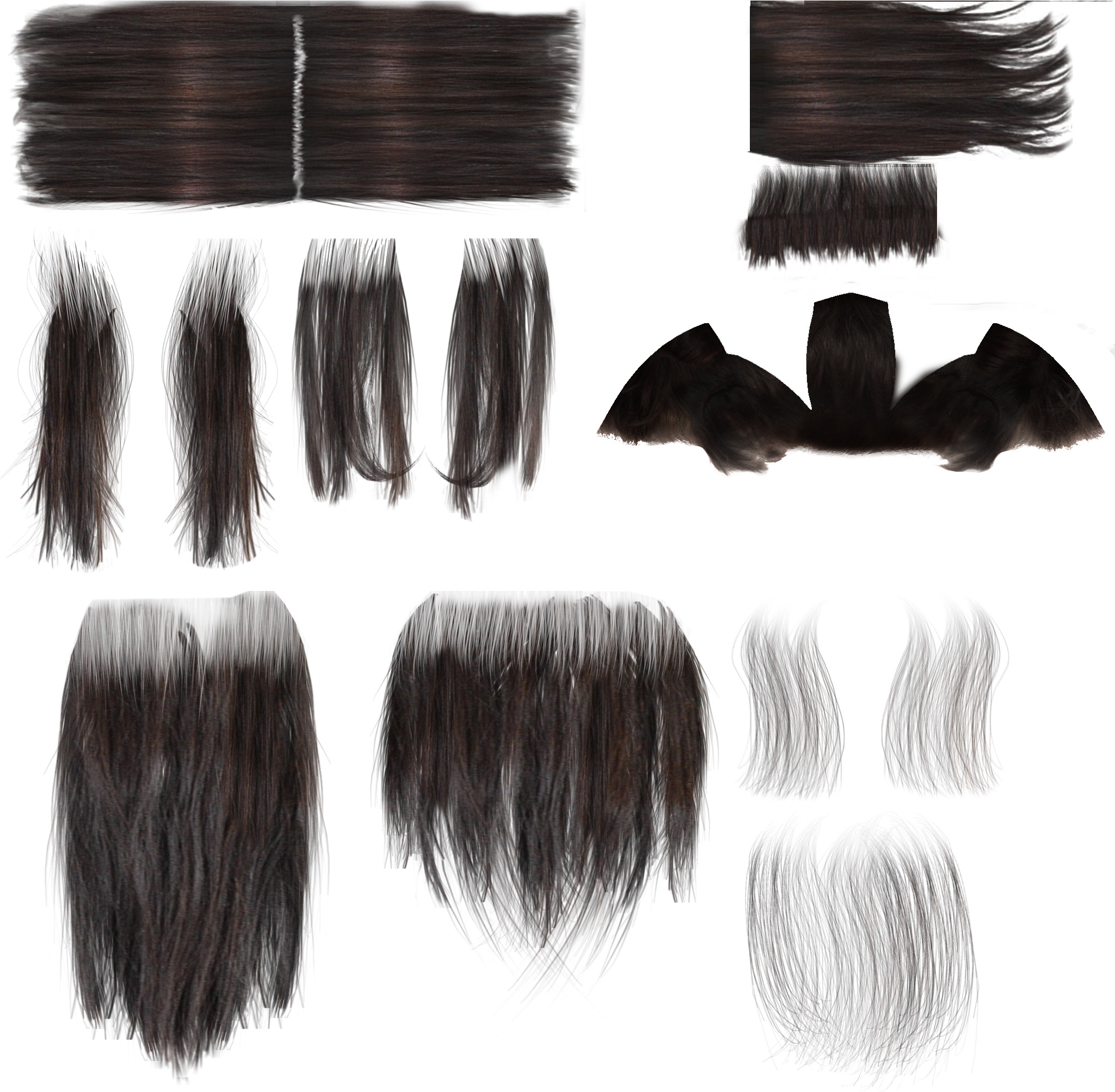 Hair texture png. Download transparent library long