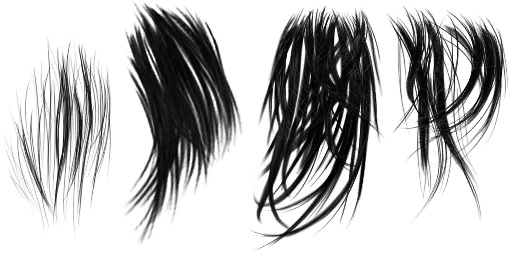Hair transparent png. Clipart background style side