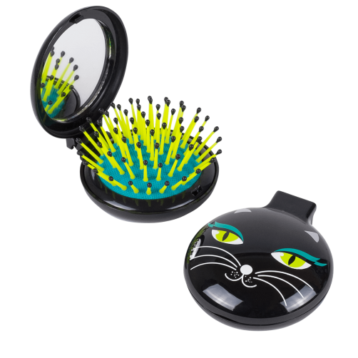 Hairbrush clipart cat. In and mirror
