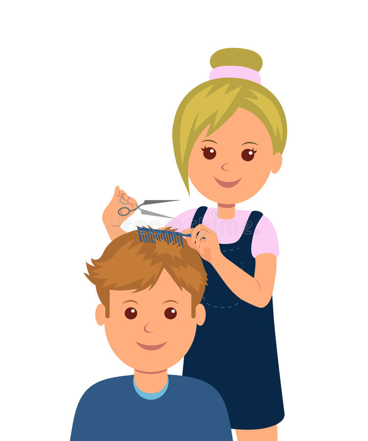 Woman clipart barber. A man came into clip library download